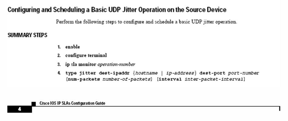 Cisco IP SLA Monitor or just IP SLA?
