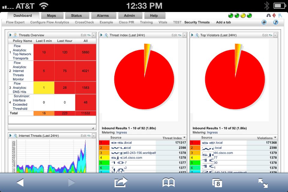 NetFlow Analyzer for the iPhone