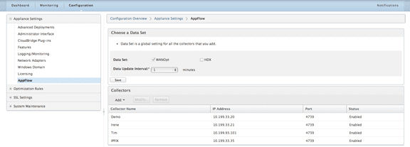 Citrix CloudBridge: IPFIX WAN Optimization Reporting