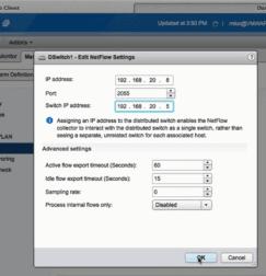 vSphere Configure NetFlow Exporter