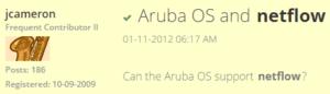 Aruba IPFIX Support