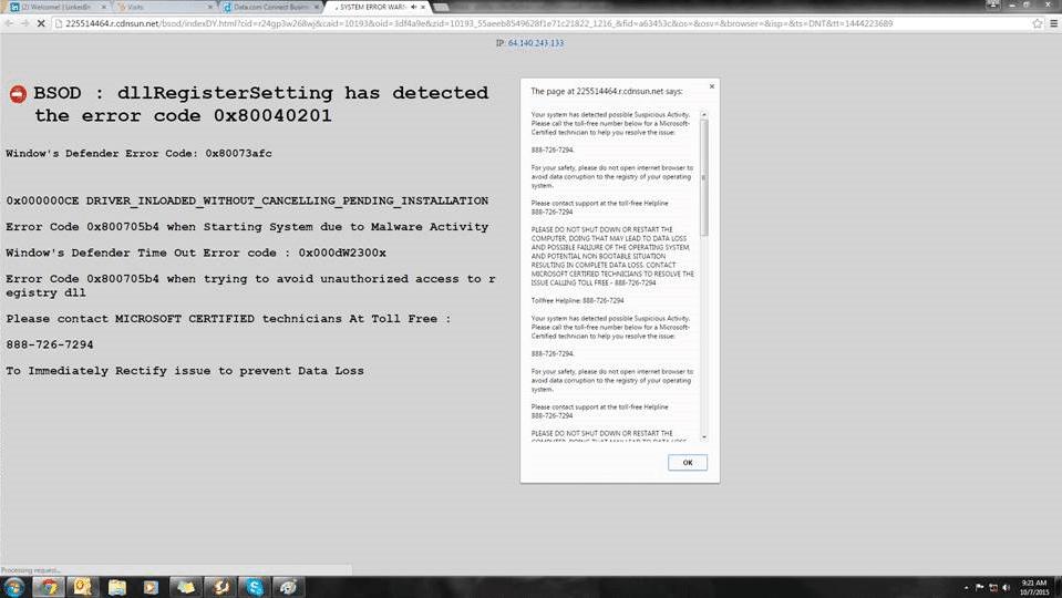 DNS Hijacking example
