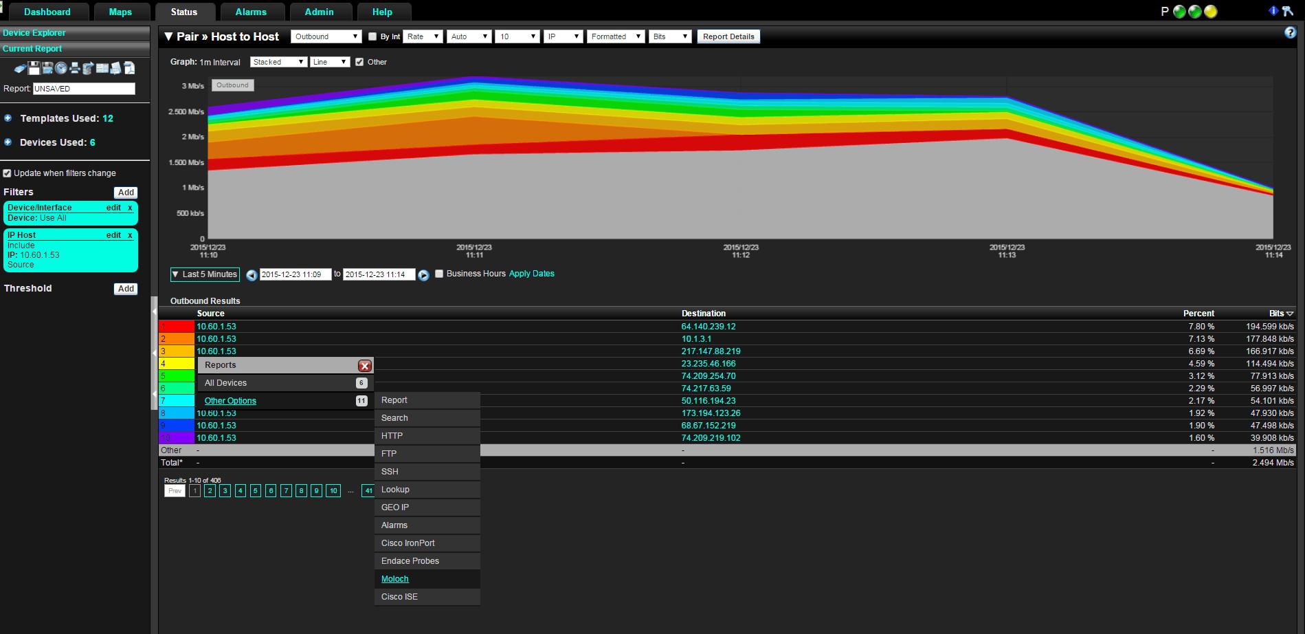 Moloch Packet Capture Integration