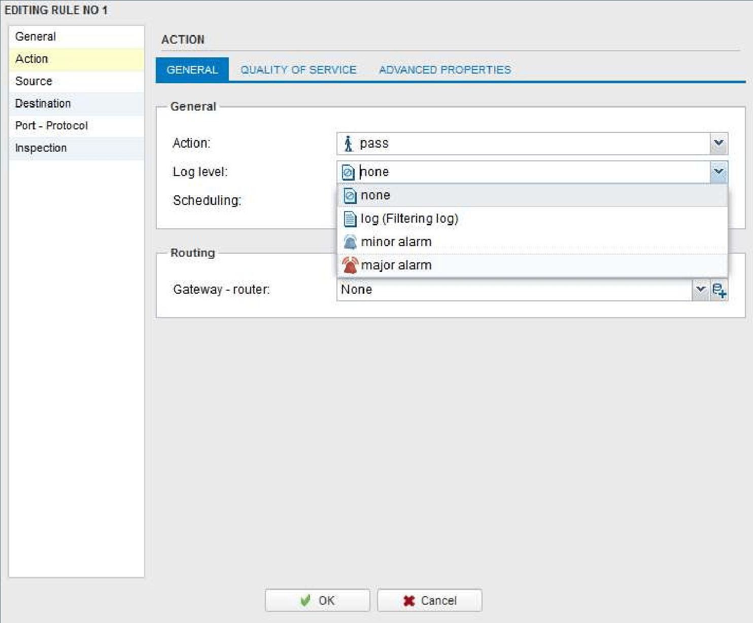 Configure log level