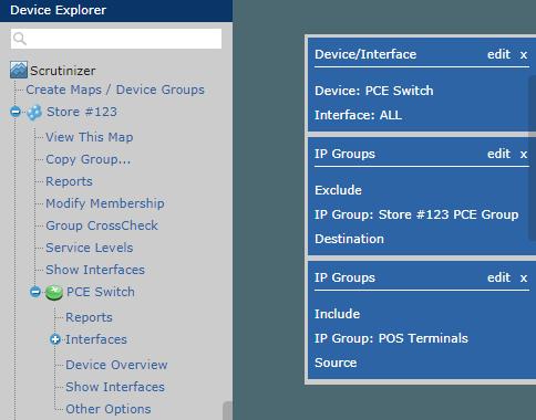 Device Explorer, Filtering