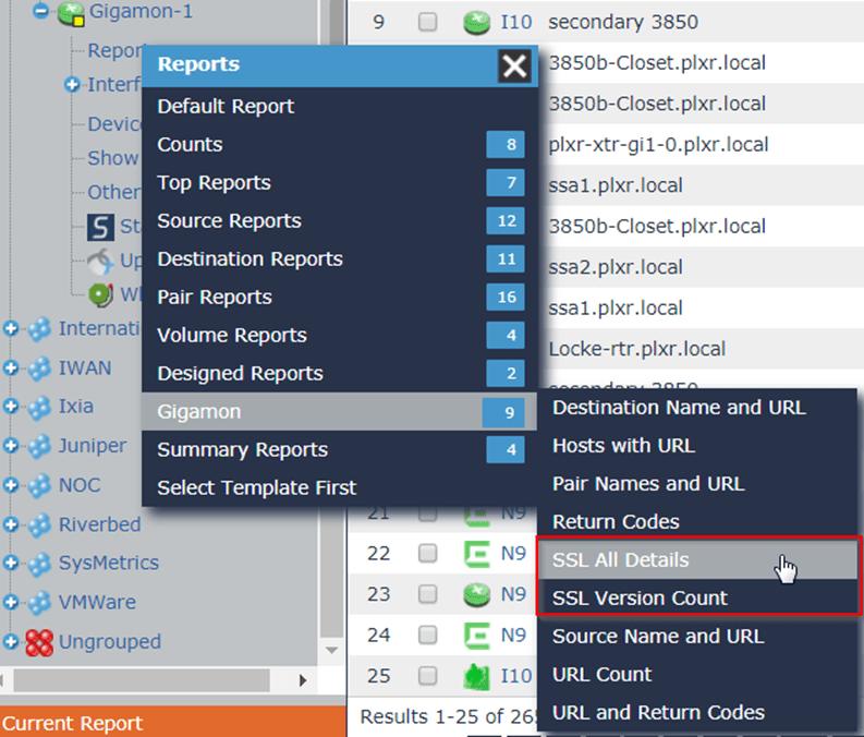 Gigamon SSL Reports in Scrutinizer