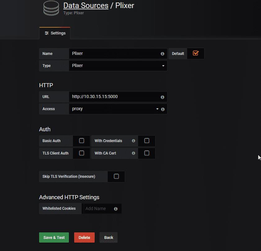 Plixer Data Source Form
