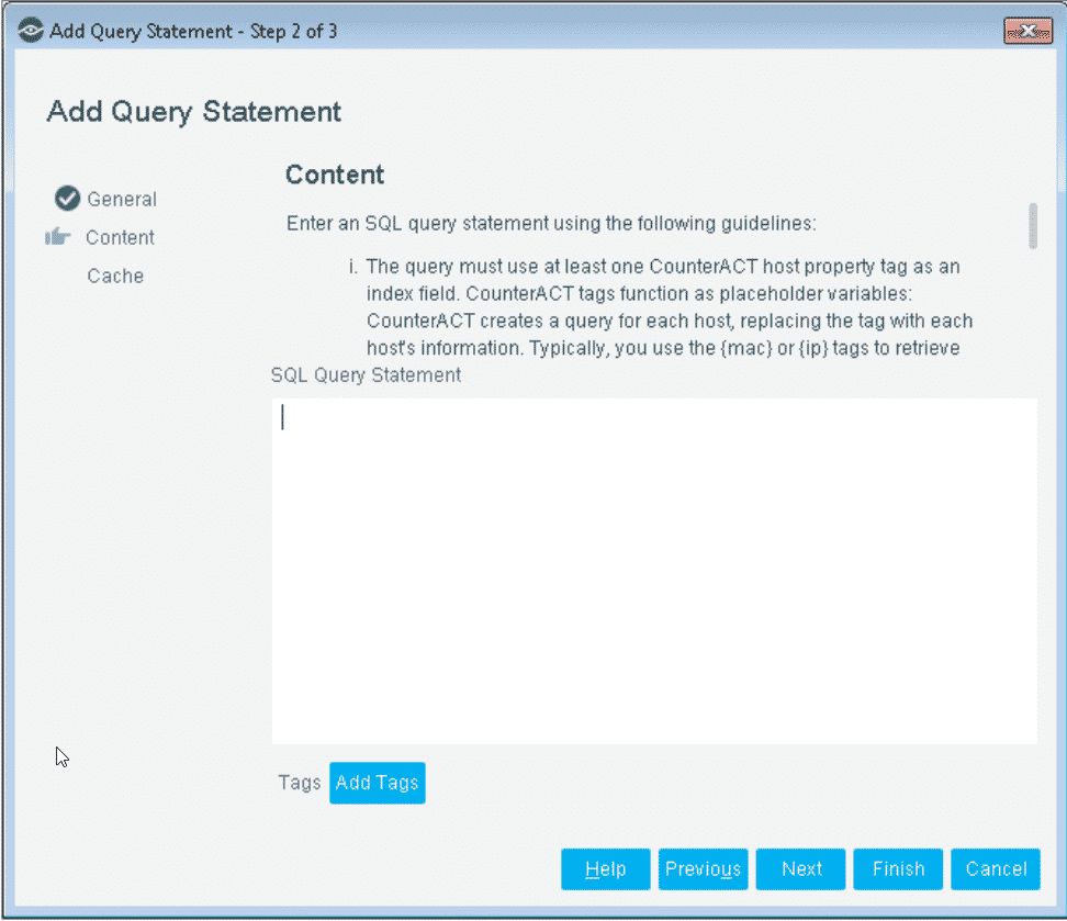 ForeScout Query Editor