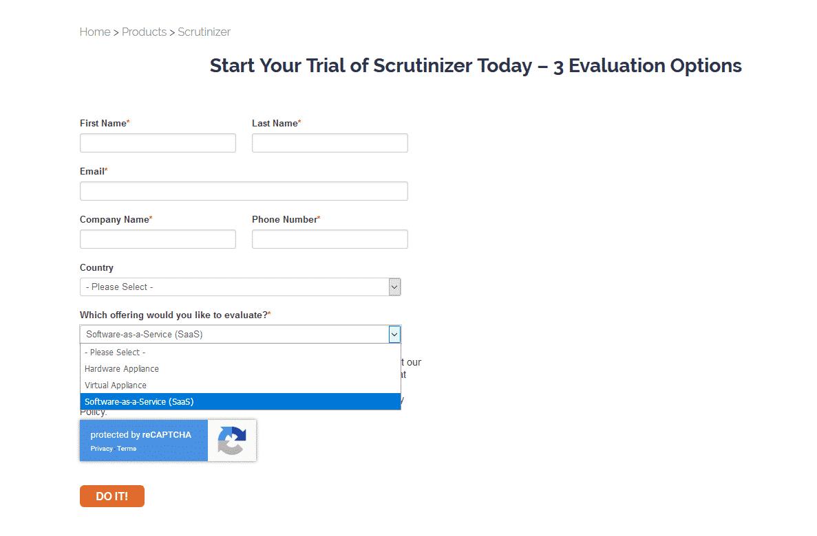 Scrutinizer trial