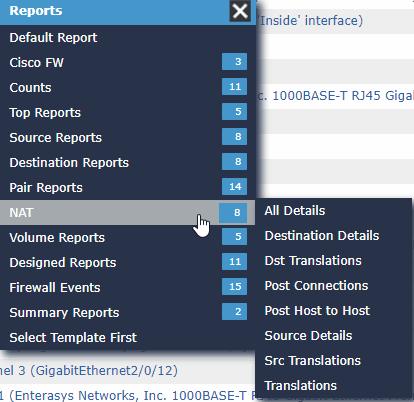 Scrutinizer reporting menu