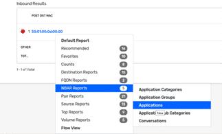 NBAR reports > Applications