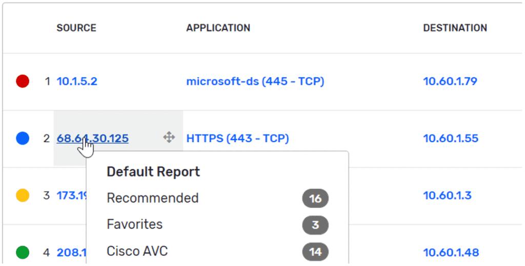 Plixer Scrutinizer host IP
